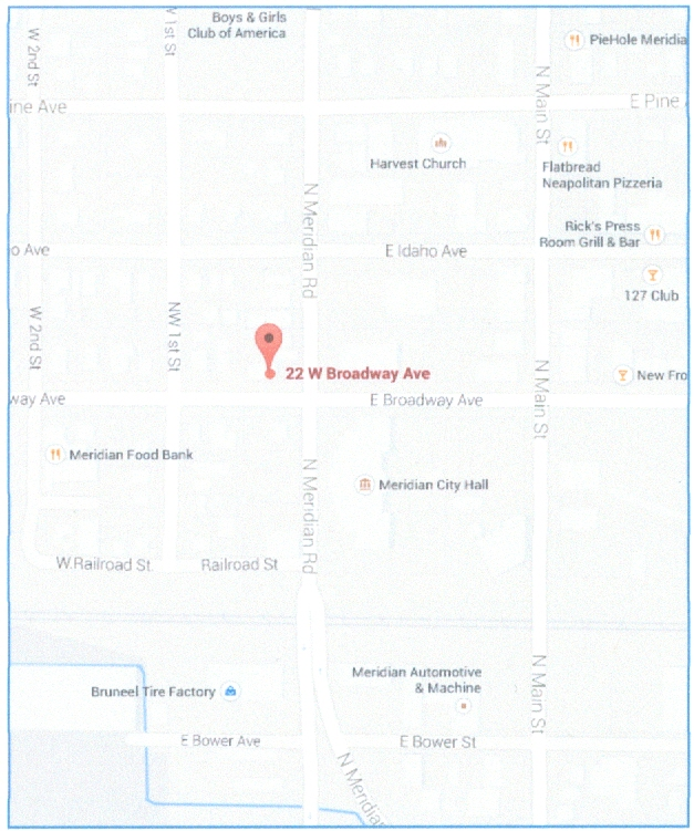 Legion Hall Meridian map