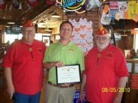 2010 Mike Mgr Hooters, Appreciation for Gulf Tournament.JPG