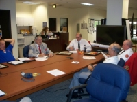 Sep 3rd Board Mtg, L-R Cmdt Erickson, Sec Art Kilton, Jr Vice John Walker, Bobbie Lee, David Brasuell.JPG