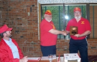 Cmdt Strawn congratulating me for Marine of the Year award.JPG