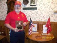 Don Griffith, Marine of the Year Award.JPG