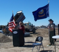 May, 2011 Meridian Mayor decating new site for Meridian Memorial for our fallen veterans of Meridian, Idaho.JPG