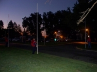 Sep19th,2009_Ken putting up flags.JPG