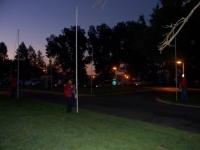 Sep19th,2009_Ken putting up flags.JPG