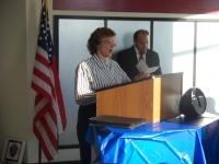 Dec5, 2009_ Decication of Nampa PO, Gayle Alvarez Idaho Military Historian.JPG