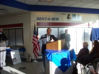 Dec5,2009_ Rep Walt Minnick speaking at Nampa PO dedication to Herbert A Littleton, USMC,MOH.JPG