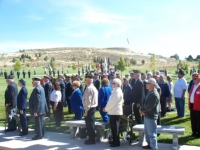 Oct 1st_ Visitors paying their respect to family & friends of CWO Jesse Phelps, MIA for 43 yrs.JPG