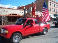 Nov7,2009 Veterans Day Parade, Bobbie Lee designated driver.JPG