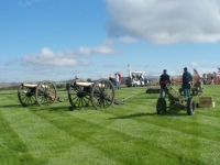 Old guns ready for 21 gun salute.JPG