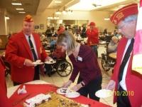 Nov10, 2010_From L_serving cake,Bobby Lee, Lisa Edens and Art Kilton.JPG