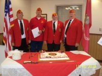 Officers Art-Rich-Arnie-Don Preparing to celebrate the235th Marine Corps Birthday.JPG