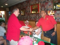 Lou Roane presents John Walker with certificate.JPG